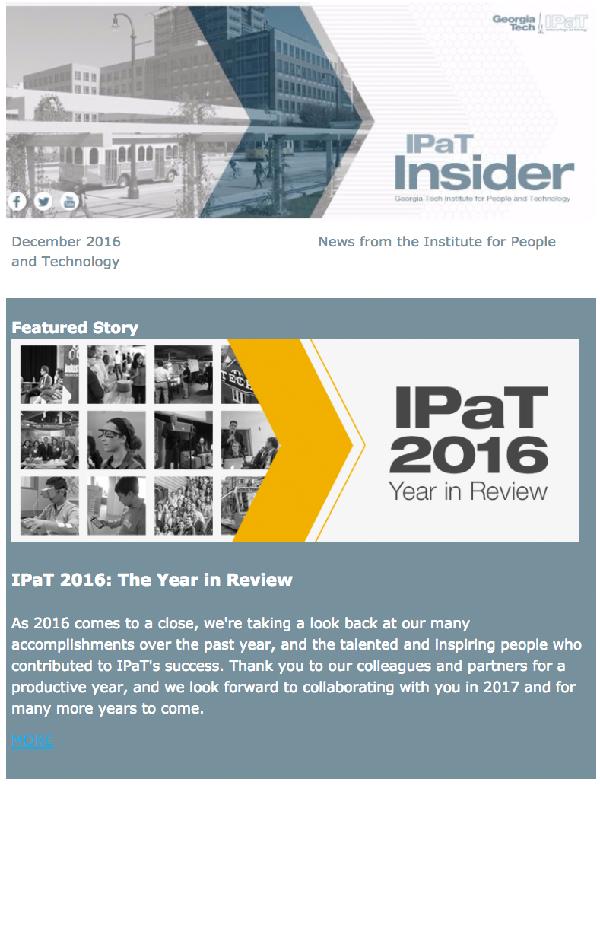 December 2016 IPaT Insider cover